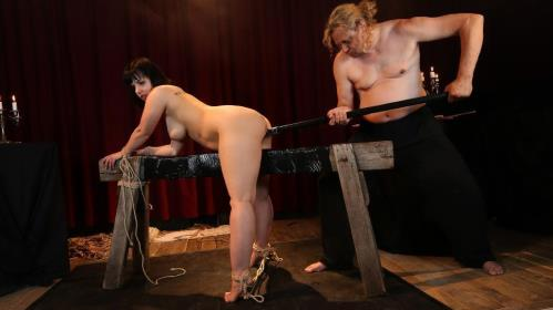 Pina Deluxe - Wild bondage and torture session with chubby German slave Pina Deluxe PT 2 [SD, 480p] [BadTimeStories.com / PornDoePremium.com]