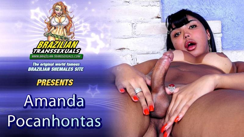 (Shemale / MP4) Amanda Pocahontas - Amanda Pocahontas Cums For You! Groobyhub.com / Brazilian-Transsexuals.com - SD 480p