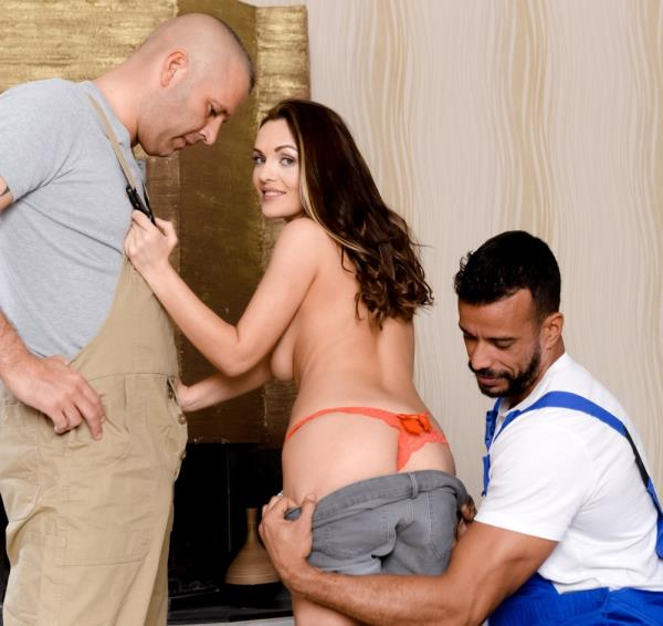 DPFanatics/21Sextury:  Dominica Fox, Thomas Stone, Vinny Star(DP) - Two Pool Boys, One Girl  [SD 544p]