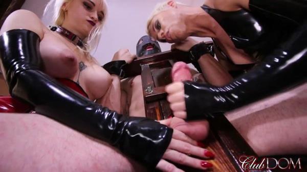Female Domination - Dahlia Rain, Domina Helena - Milking their Pathetic Slave [FullHD, 1080p]