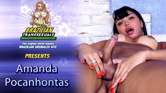 Groobyhub, Brazilian-Transsexuals: Amanda Pocahontas - Amanda Pocahontas Cums For You! (HD/720p/559 MB) 13.08.2017