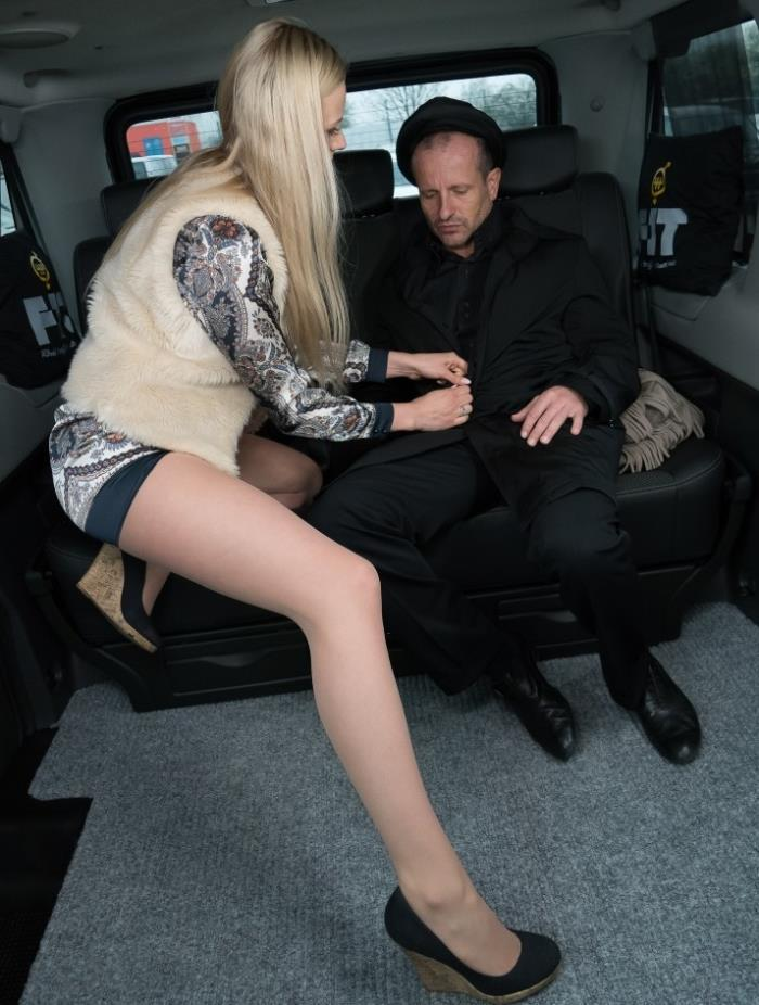 Katie Sky- Sexy Czech blonde Katie Sky gets cum on tits in the backseat of the car  [HD 720p] FuckedInTraffic.com / PorndoePremium.com