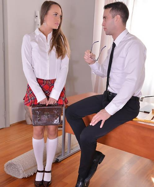 Blue Angel - Strict Principles: Naughty Schoolgirl Spanked And Fucked [HD/720p/2.16 Gb] HouseOfTaboo/DDFNetwork