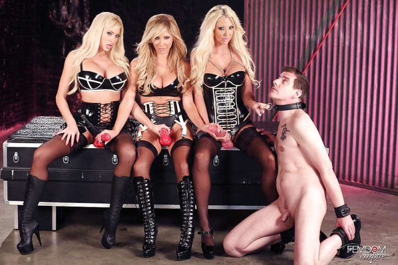 FemdomEmpire: Strap-on Blonde Gang Bang - Courtney Taylor, Summer Brielle, Tasha Reign [2017] (HD 720p)
