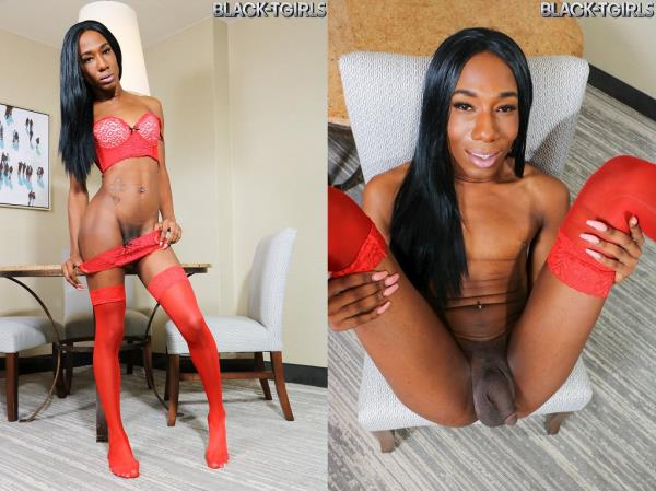 Black-TGirls - Coco Cums Hard! [HD, 720p]