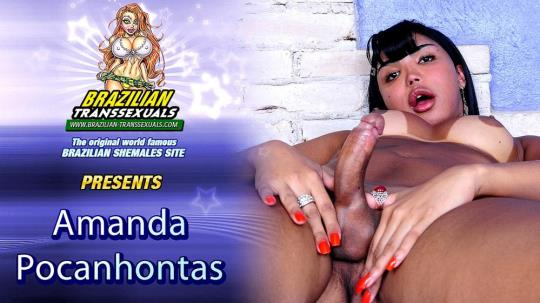 Groobyhub, Brazilian-Transsexuals: Amanda Pocahontas - Amanda Pocahontas Cums For You! (SD/480p/336 MB) 16.08.2017