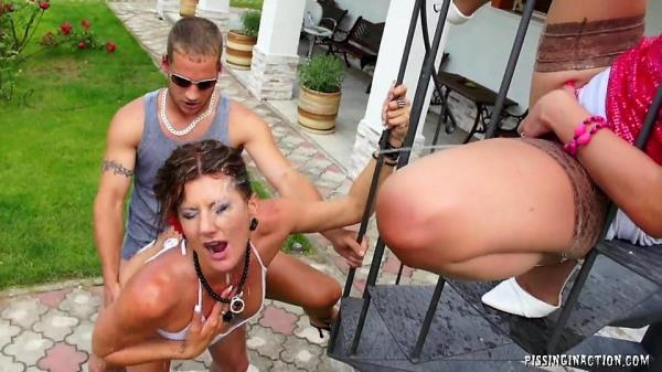 Tainster - Celine Noiret, Leony Aprill - Taking Golden Showers To All New Heights [HD, 720p]