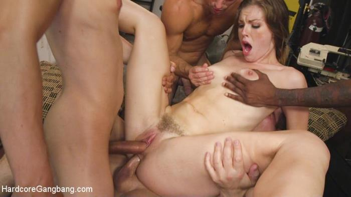 HardcoreGangBang.com / Kink.com - Ella Nova Fucked by Stepbrother and His Friends [HD, 720p]