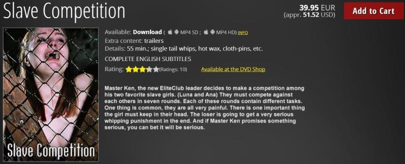 ElitePain.com: Slave Competition [HD] (1.59 GB)