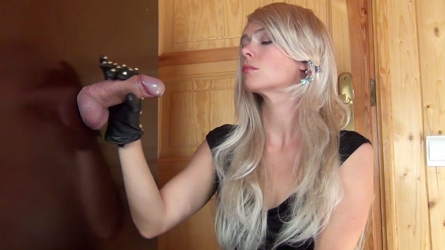 Alina ~  Cum Drinking, Ruined Orgasm, Edging Handjob in rough Leather Gloves  ~ AballsandCockCrushingSexbomb ~   FullHD 1080p
