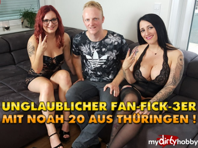 QueenParis - (MyDirtyHobby/MDH) Unglaublicher Fan-Fick-3er mit Noah 20 aus Thuringen  Incredible Fan Fuck-3 with Noah 20 from Thuringia! [FullHD 1080p] - German