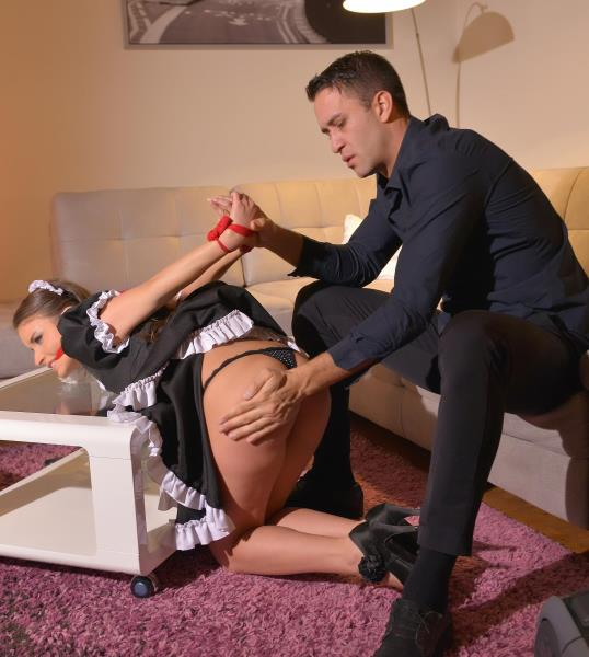 HouseOfTaboo/DDFNetwork - Anita B. aka Anita Berlusconi - Petite Maid Humiliated: Small Ass Crammed With Huge Cock [SD 540p]