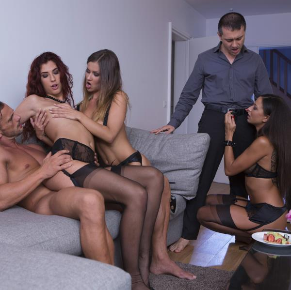 Mina Sauvage, Shona River, Cassie Del Isla - Perverse orgy with 3 hot girls (2017 / DorcelClub)  [SD / 540p/ 265.72 Mb]
