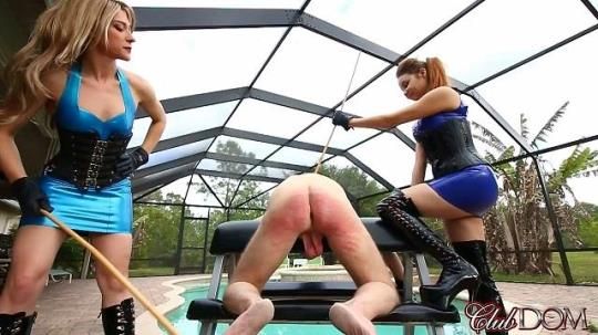 Clubdom: Goddess Tessa Crane and Goddess Ginger - Caning (HD/720p/468 MB) 19.08.2017