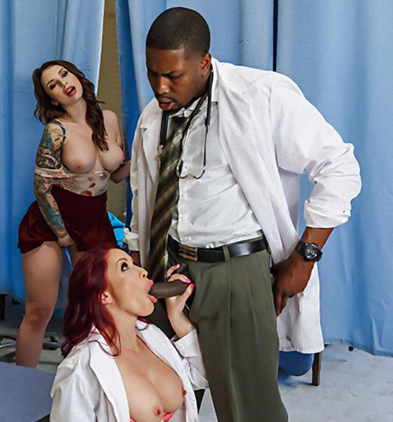DoctorAdventures/Brazzers - Monique Alexander, Isiah Maxwell, Ivy Lebelle - Wait Your Turn [SD 480p]
