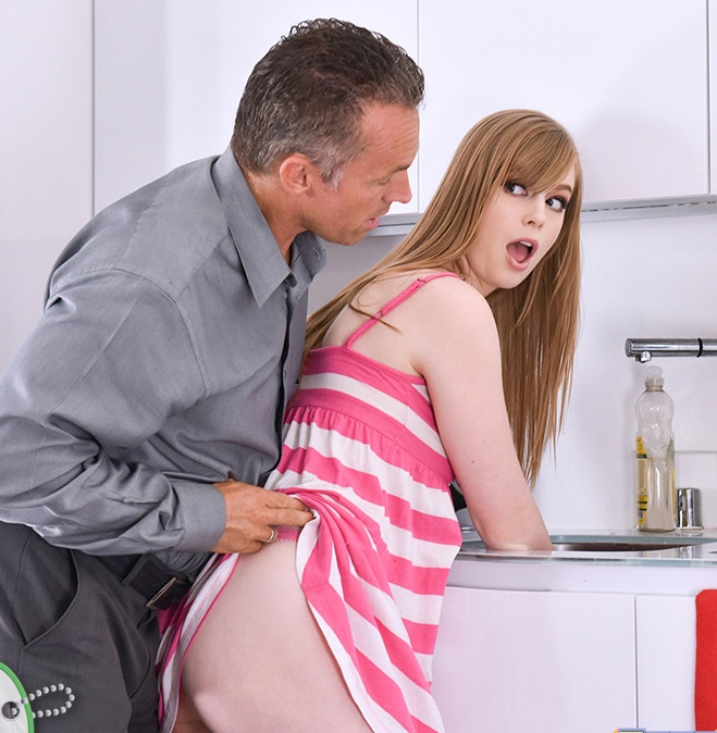 Dolly Leigh - The Sitter Is Stuck In The SInk [HD 720p]  - MyBabysittersClub/TeamSkeet
