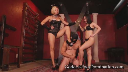 Goddess Brianna & Goddess Kylie - Beat A Bitch [FullHD, 1080p] [Goddessfootdomination.com / Clips4sale.com]