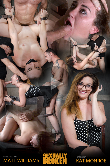 SexuallyBroken.com - Kat Monroe - Sexy school teacher Kat Monroe gets Nailed by two cocks! [HD, 720p]