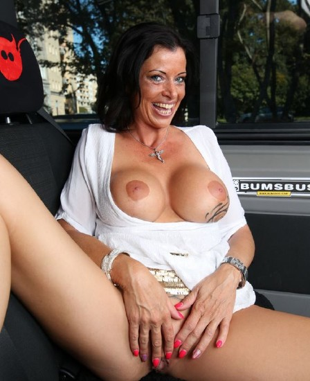 BumsBus/ PornDoePremium - Dacada - Slutty German MILF Dacada gets cum on tits in raunchy bus fuck [SD 480p]