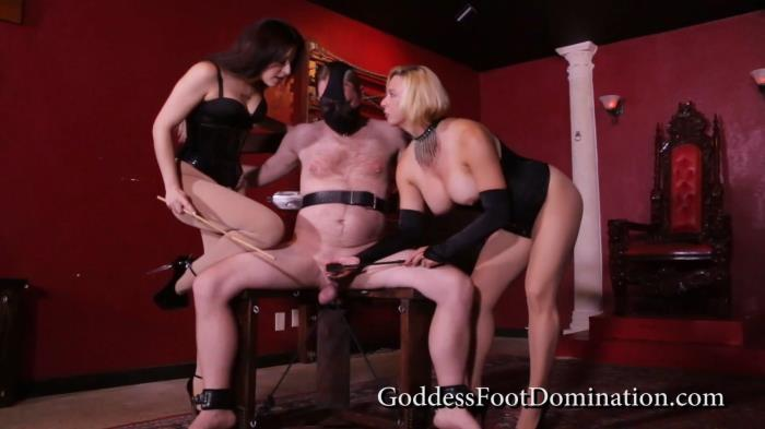 Goddess Brianna, Goddess Isobel - Straps and Clamps (GoddessFootDomination, Clips4sale) FullHD 1080p