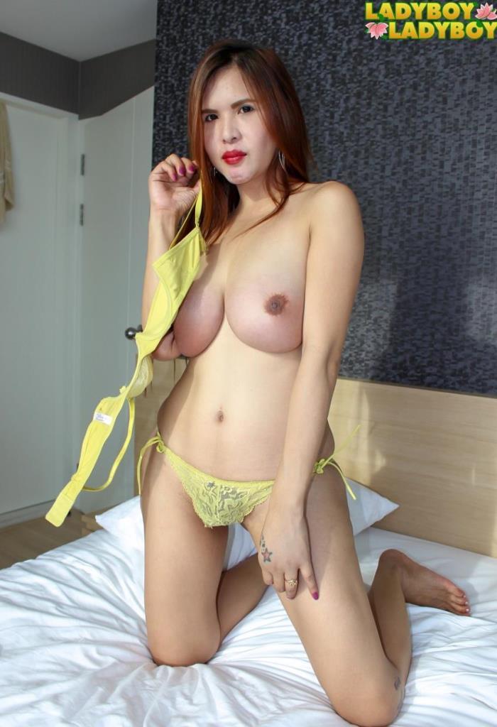 Shainne - (Ladyboy-ladyboy) Shainne, Perfect In Yellow Lingerie! [HD 720p] - Trans