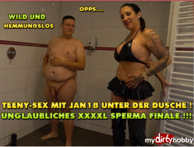 MyDirtyHobby/MDH - QueenParis [Teeny-Sex mit Jan18 unter der Dusche  Unglaubliches XXXL Sperma Finale  Teeny-sex with Jan18 in the shower! Incredible XXXL sperm finale] (FullHD 1080p)
