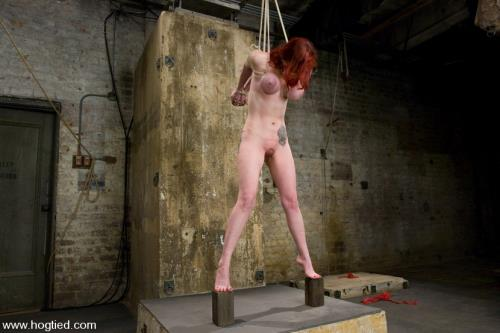 Mz Berlin - Berlin and her massive breasts are back. Great breast bondage and hardcore Orgams [HD, 720p] [Hogtied.com / Kink.com]