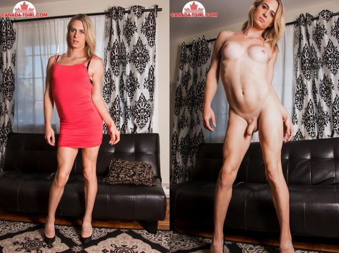 Nikki Rocks It In Red (Canada-TGirl) HD 720p