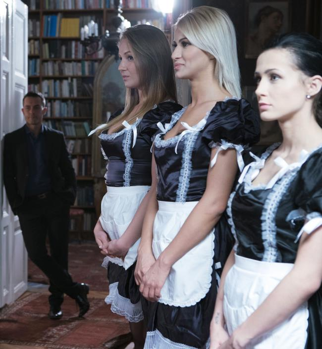 Blue Angel, Cherry Kiss, Zazie Skymm, Tyra Moon, Nicole Love, Ani Black Fox ~  Behind the scenes of the movie French maids to share  ~ DorcelClub ~   HD 720p