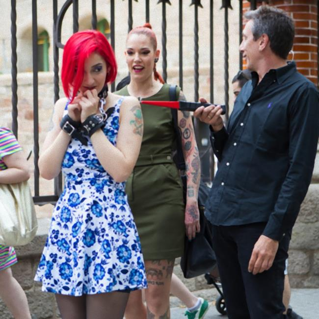 Kink/PublicDisgrace - Silvia Rubi, Susy Blue, Margout Darko - Petite Natural Whore Shamed in Public and Gang Fucked in Rope Bondage!  (720p / HD)