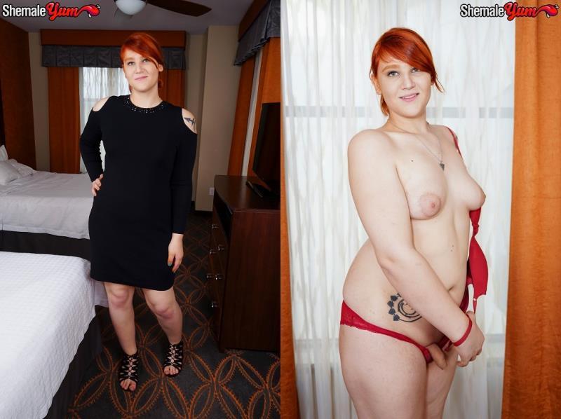 SheMaleYum.com: Ashlee Nova / Redhead Beauty Ashlee Alespia! [HD] (595 MB)