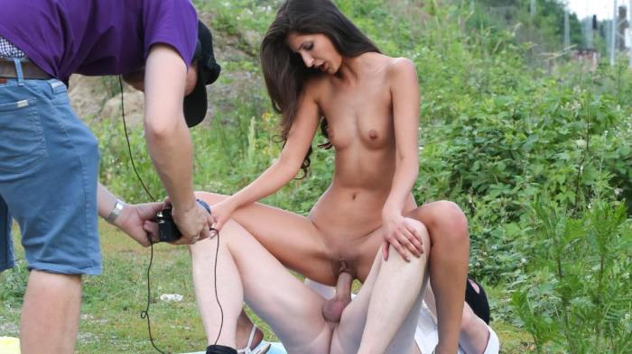 BumsBesuch.com / PornDoePremium.com - Coco Kiss - Skinny German pornstar Coco Kiss gets fucked by newbie fan boy outdoors [SD, 240p]