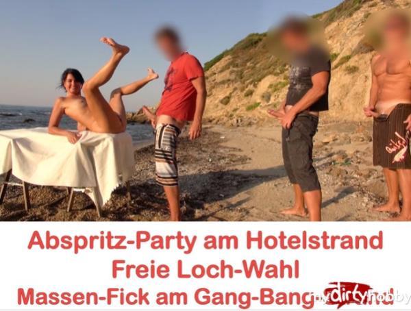 Alexandra-Wett - Abspritz-Party am Hotelstrand Freie Loch-Wahl! Jeder darf ran AO  Cumshot party at the hotel beach. Free hole choice! Everyone can run! AO (MyDirtyHobby/MDH)  [HD 720p]