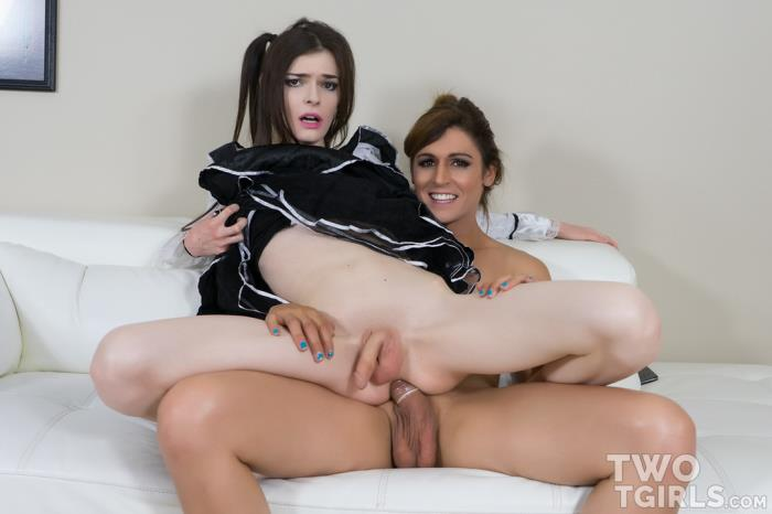 Kira Crash & Bailey Love Make Me a Slutty Maid! (TwoTGirls) HD 720p