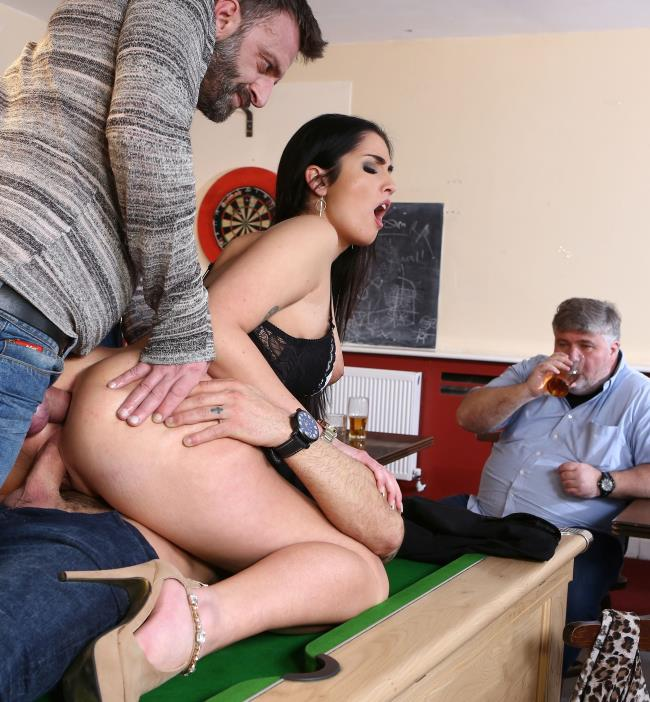 DorcelClub: Loren Minardi - Hardcore DP on the pool table  [HD 720p]  (Group)