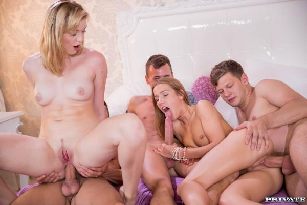 Anny Aurora and Alexis Crystal Celebrate With an Orgy - AnalIntroductions.com / Private.com (SD, 360p)
