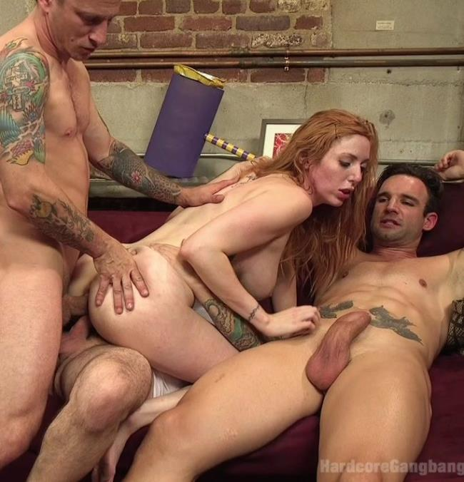 Kink/HardcoreGangBang - Lauren Phillips - All Natural Redhead Lauren Phillips gets Double Anal from a Gang Bang! - HD/720p