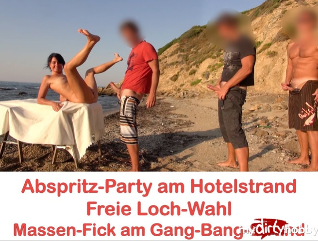 Alexandra-Wett- Abspritz-Party am Hotelstrand Freie Loch-Wahl! Jeder darf ran AO  Cumshot party at the hotel beach. Free hole choice! Everyone can run! AO [MyDirtyHobby/MDH] [HD|mp4|116.69 Mb|720pp|2017]