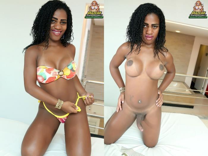 Aline Rayalla / Ebony Bombshell Aline Rayalla Strokes! Remastered (Brazilian-Transsexuals) HD 720p