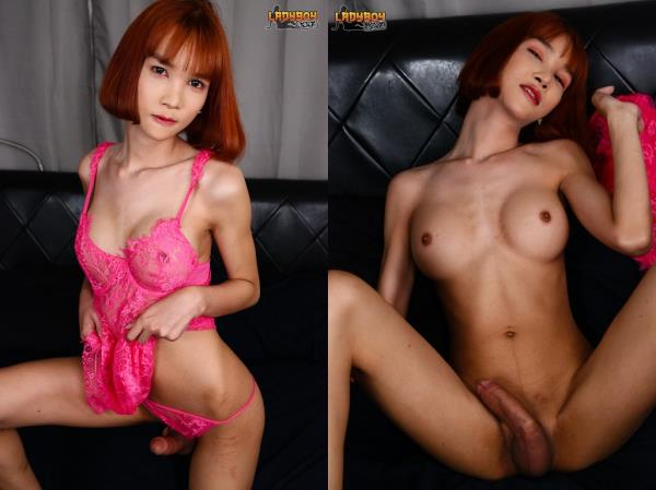 LadyBoy - Mikky / Stunning Tgirl Miki In Her Lacy Dress [HD, 720p]