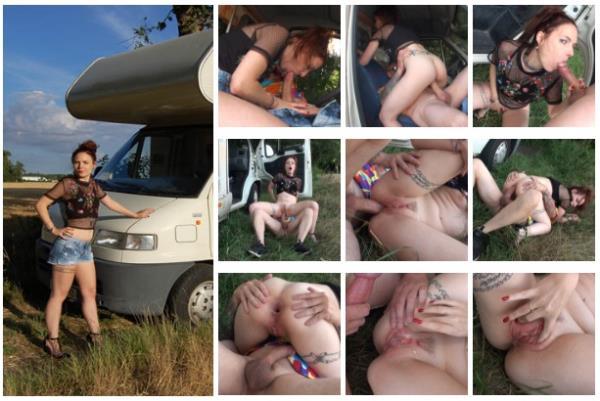 French-Bukkake:  Cathy Crown  - Camping Car (2017) SD  540p