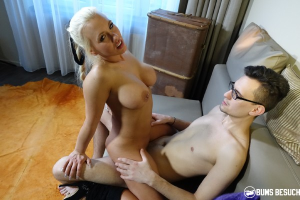 BumsBesuch/PornDoePremium - Celina Davis - Hot German pornstar Celina Davis gets cum on tits in hot surprise fuck [SD 480p]