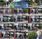 Alissa-Noir - Blondes vs. Brunettes - Who pees better (HD 720p)