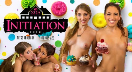Alyce Anderson & Brooke Haze - Initiation (25.10.2017/WankzVR.com/3D/VR/2K UHD/1600p)