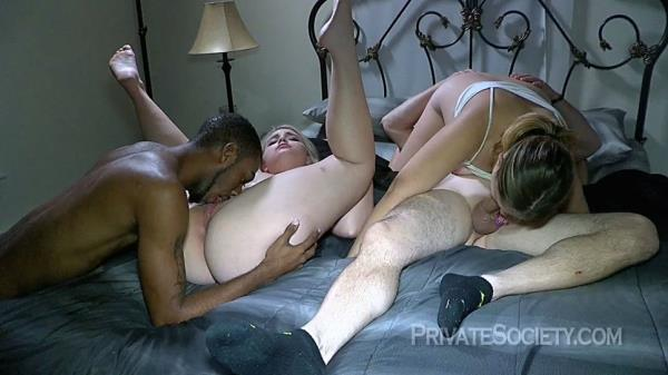 PrivateSociety - Four Swingers On A Bed [HD, 720p]