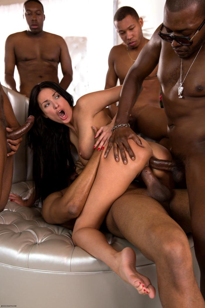 Colette - Anissa Kate - Anissa Gets Her Interracial Christmas Gang Bang Wish [HD 720p]