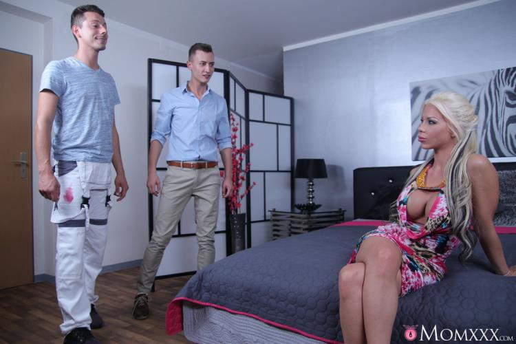 Barbie Sins - UK MILF takes two cocks in one hole [SexyHub, MomXXX / SD]