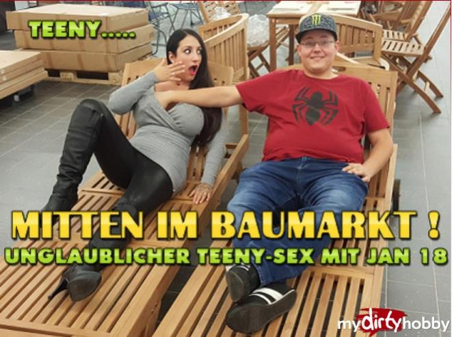 MyDirtyHobby/MDH: QueenParis - Mitten im Baumarkt - Unglaublicher Teeny-Sex mit Jan 18 - In the middle of the building market! Incredible teen sex with Jan 18 - [FullHD 1080p] - (German)