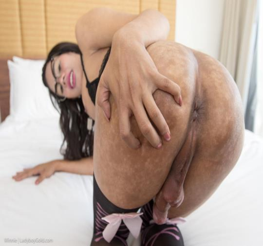 LadyboyGold: Winnie - Bottomless Babe Bareback (HD/720p/1.05 GB) 01.10.2017
