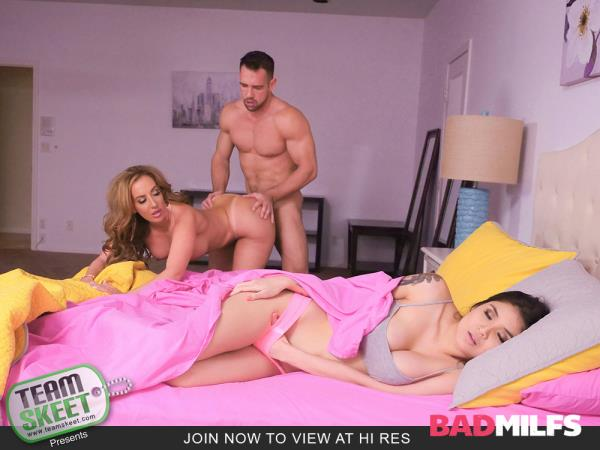 BadMilfs, TeamSkeet - Brenna Sparks, Richelle Ryan - Dirty Daughter Dirtier Stepmom [HD, 720p]